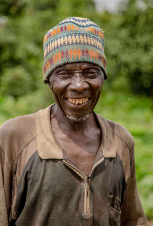 Farm worker in Cameroon